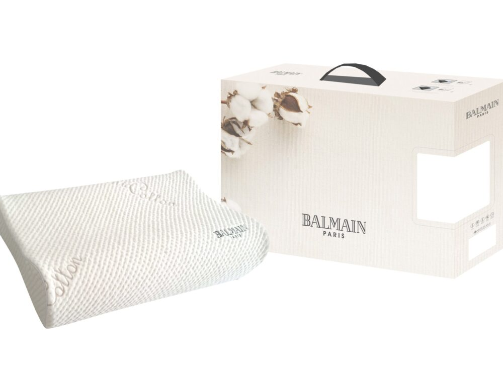 Balmain Organic Cotton Charcoal In-Fused Memory Foam Pillow