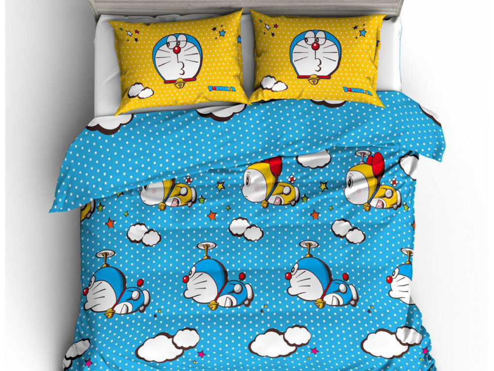 Doraemon Nano Lux 980thread count Design: Cloud