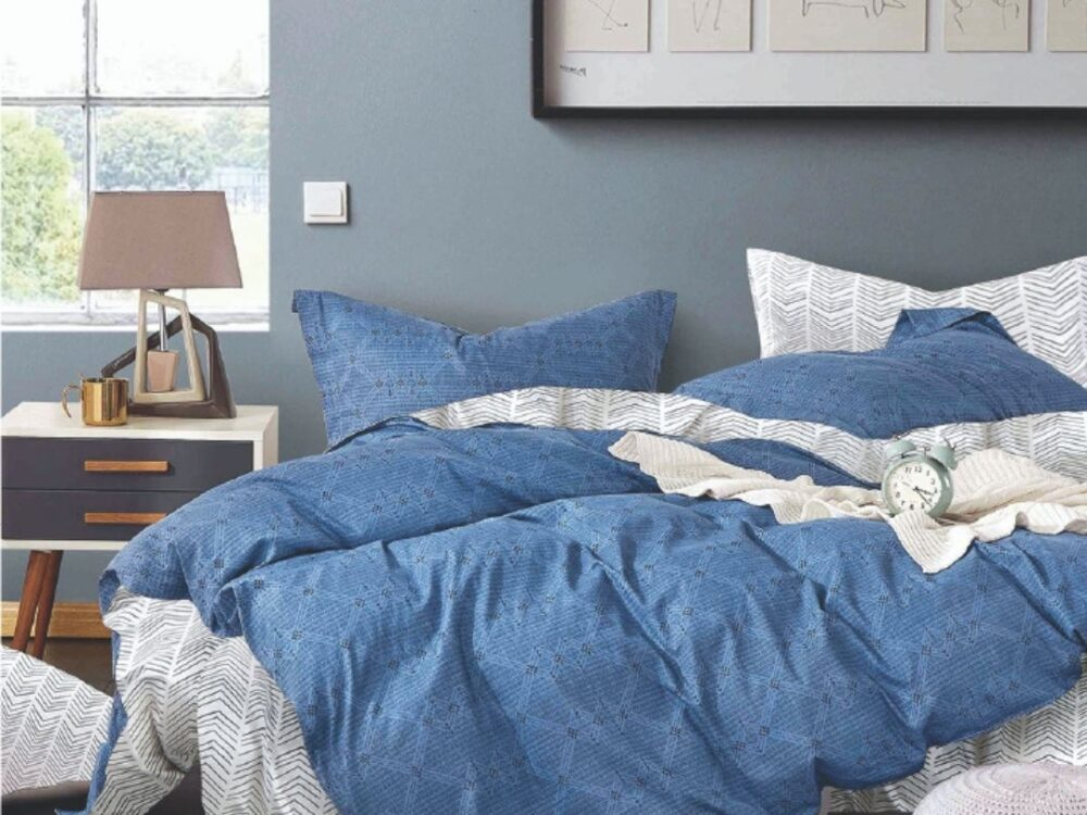 Home 928tc Combed Cotton Printed Bed Set Bobby