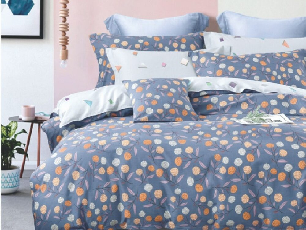 Home 928tc Combed Cotton Printed Bed Set Mitchil