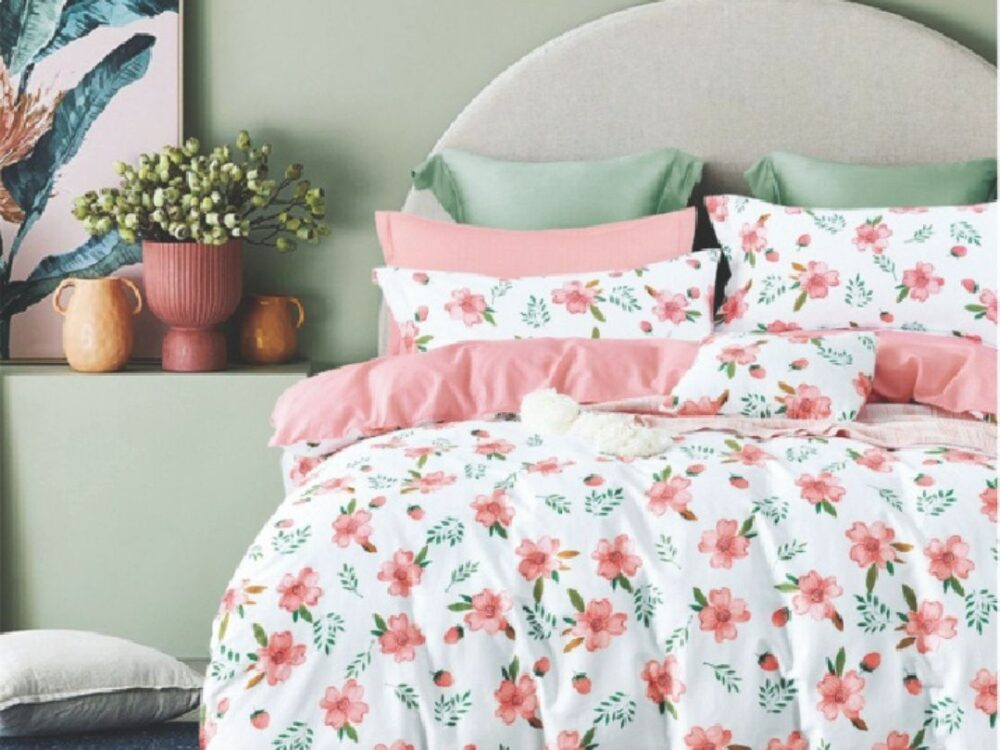 Home 928tc Combed Cotton Printed Bed Set Saronne