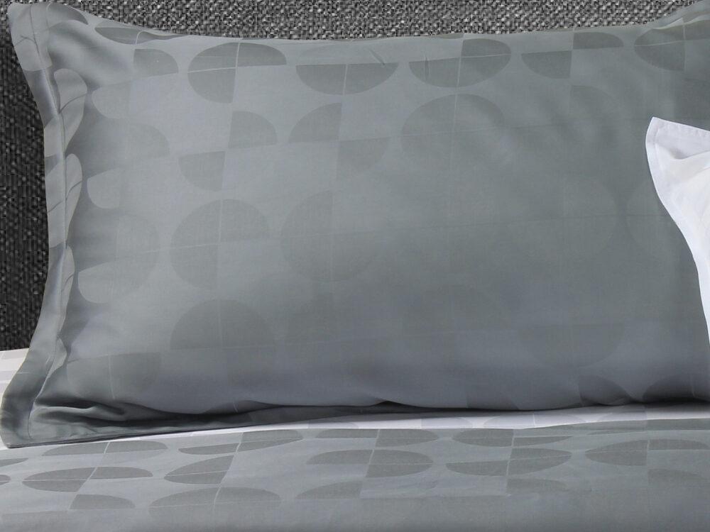 Bellami Monti Papermoon Jacquard 100% Charcoal Tencel 1000 Thread Count Military Grey