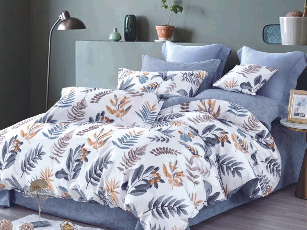 Home 928tc Combed Cotton Printed Bed Set Leef
