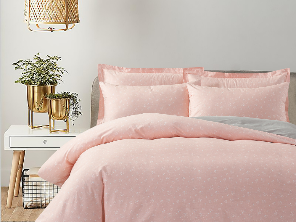 Marie Claire Lumine Printed Bed Set Design: Cherry