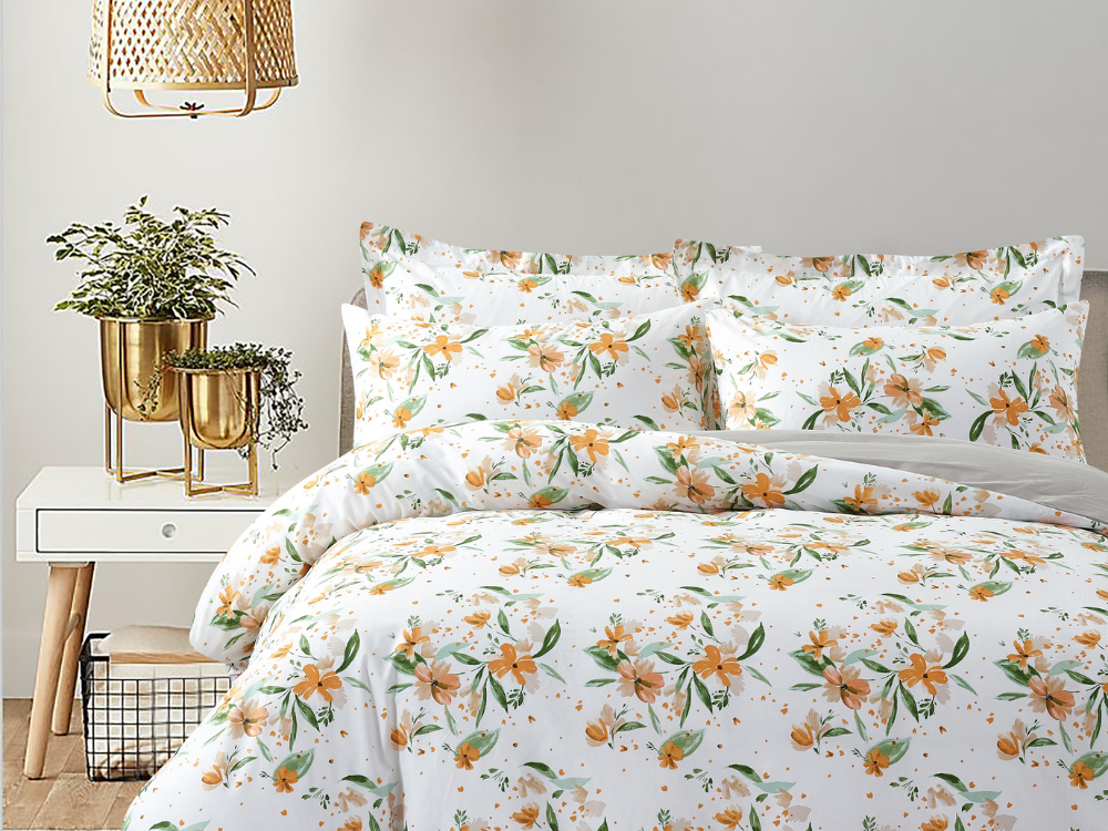 Marie Claire Lumine Printed Bed Set Design: Noelle