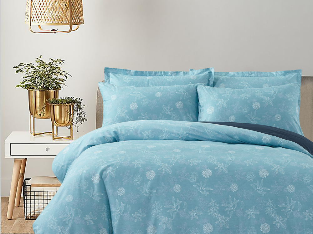 Marie Claire Lumine Printed Fitted Sheet Set Design: Rosaria